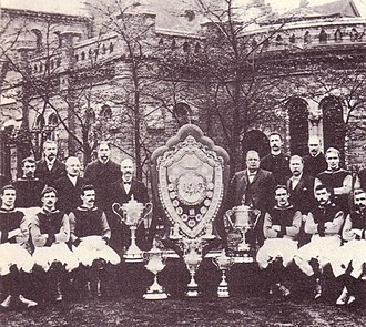 Aston Villa F.C. - The Aston Villa team of 1899 that won the First Division and Sheriff of London Charity Shield (shared with Queen's Park) as well as a number of county cup honours.