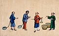 A Chinese official weighing out the rice to give to prisoners Wellcome V0041447.jpg