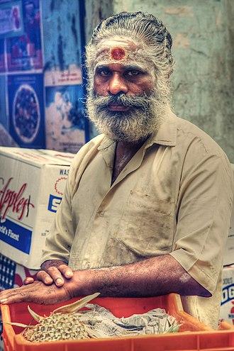 Vibhuti - Hindu man, wearing tripundra