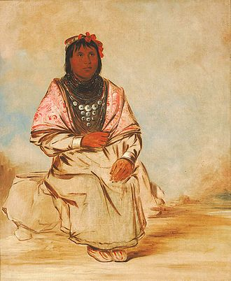 Seminole -  Seminole woman painted by George Catlin 1834