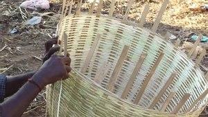 File:A bamboo basket making depiction video.ogv