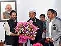 A delegation from Malaysia meeting the Union Minister for Minority Affairs, Shri Mukhtar Abbas Naqvi, in New Delhi on October 26, 2017.jpg