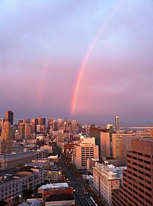 A double rainbow in San Francisco 2013-03-30 21-33.jpg