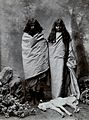 A man and woman of the Toda tribe standing in a photographic Wellcome V0048575.jpg