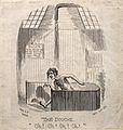 A man taking a shower as part of a hydrotherapeutic cure. Wo Wellcome V0011240.jpg