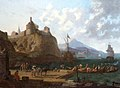 A mediterranian harbour scene beneath a fort by Adriaen van der Kabel.jpg