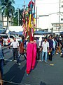 A stilt walker at Shahbag , Dhaka 4.jpg