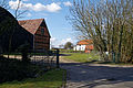 Abbess Roding farm gates, listed barn and hall - Essex England.jpg