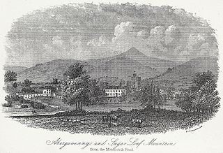 Abergavenny, and Suger Loaf mountain from the Monmouth road