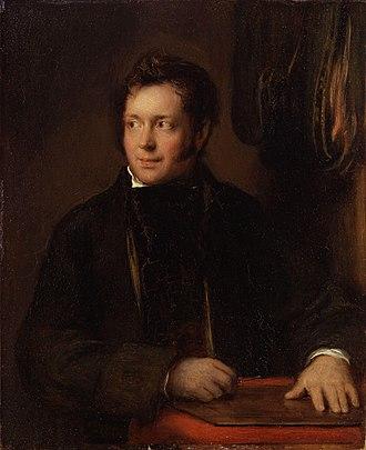 Abraham Raimbach - 1818 portrait of Abraham Raimbach by David Wilkie
