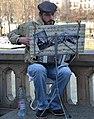 Accordionist, Pont Louis-Philippe, Paris 2015.jpg