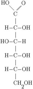 Acido gluconico, ottenuto per ossidazione del glucosio