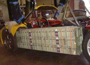 AC Propulsion tzero - New lithium-ion battery pack