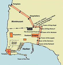 Siege of Acre (1291) - Wikipedia on jerusalem during crusades map, first templar map, richard knight s treasure map, saladin crusades map, acre crusades map,