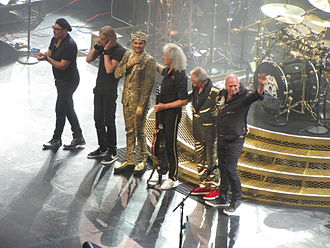 Brian May - Queen + Adam Lambert concert at the TD Garden, Boston in July 2014