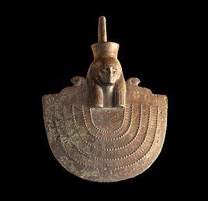 Neith - Aegis of Neith, Twenty-sixth dynasty of Egypt - Museum of Fine Arts of Lyon