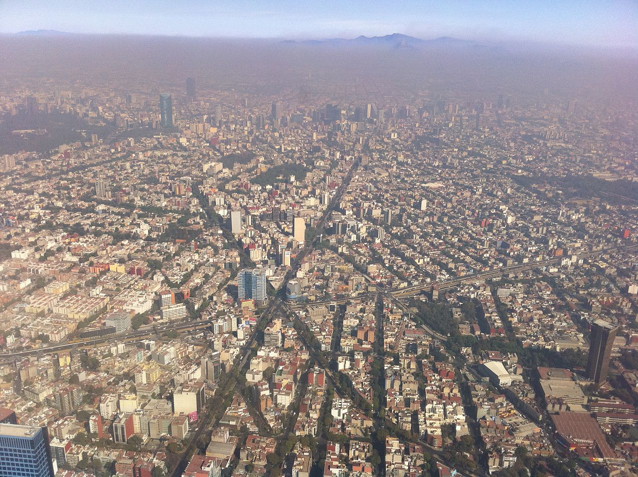 Mexico City Crowded Streets