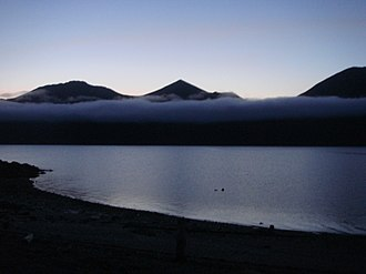 Afognak - Fog moving in on Afognak Island at midnight in July 2009.