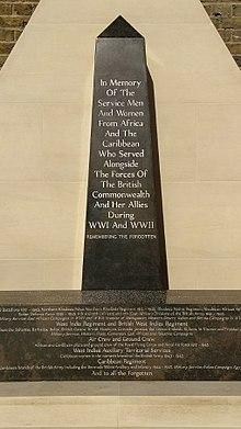 African and Caribbean War Memorial   Revolvy