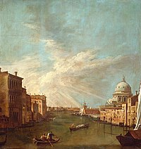 After Canaletto (Venice 1697-Venice 1768) - Venice, The Grand Canal towards the Bacino, with S. Maria della Salute - RCIN 404596 - Royal Collection.jpg