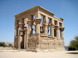 Trajans Kiosk ancient building on Philae, Egypt