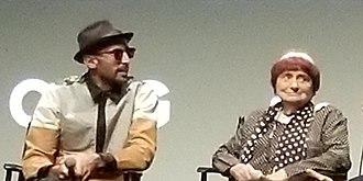 Faces Places (film) - Directors JR (left) and Agnès Varda (right)