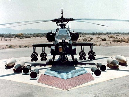 AH-64 Apache weapon loadout Ah-64 ground with weapons (cropped).jpg