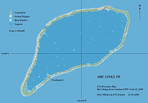 Ahe - Image: Ahe Atoll EVS Precision Map (1 100,000)
