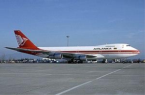 SriLankan Airlines - Air Lanka Boeing 747–200 at Basle Airport – December 1984