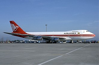 SriLankan Airlines - Air Lanka Boeing 747–200 at Basle Airport – December 1984