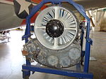 Aircraft engine at Wings Over the Rockies Air and Space Museum (4283381534).jpg