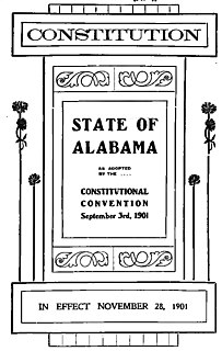 Constitution of Alabama 1901 constitution of the American state of Alabama