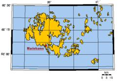 Fæste Åland er den sammenhængende landmasse omkring og nord for Mariehamn.