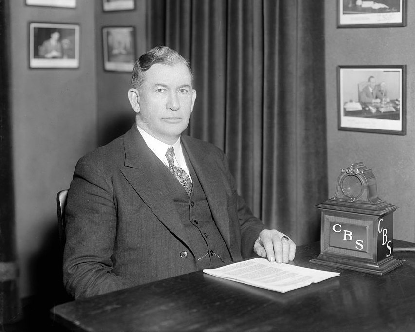 Alben Barkley at desk
