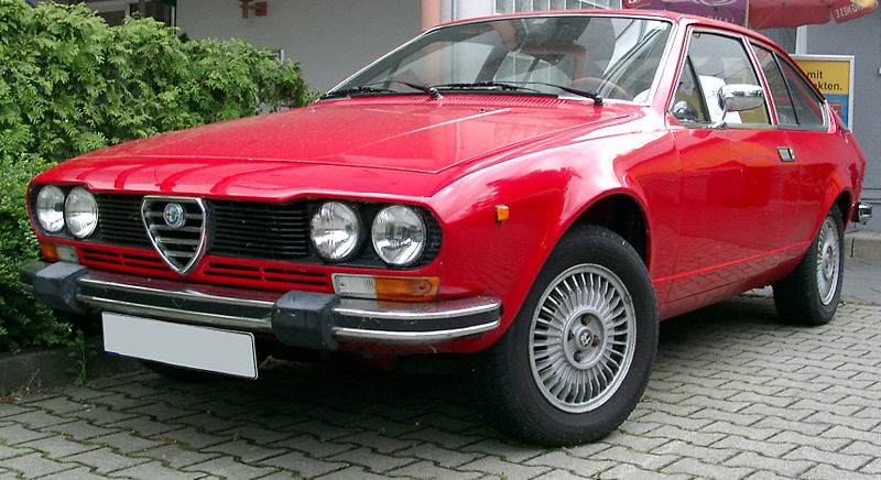 Alfa Romeo Alfetta GTV A Old VW Beetle Have to Add Chryslers Crossfire to