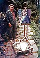 Alfred Hallett with painting of Tibetan friend c. 1980.jpg