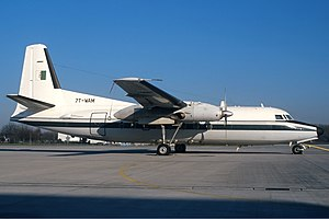 1987 Alianza Lima plane crash - A Fokker F27-400M, the aircraft type involved in the accident