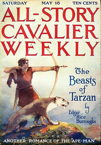 The Beasts of Tarzan - The Beasts of Tarzan was serialized in All Story in 1914.