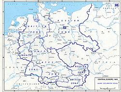 Atlas Of World War II Wikimedia Commons - Germany occupation zones map