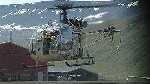 Aérospatiale Alouette II - An Alouette II prior to landing