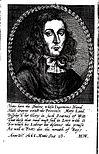 """Porträt George Alsops in der Erstausgabe von """"A Character of the Province of Maryland"""" (1666)"""