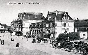 Düsseldorf Hauptbahnhof - Original station in 1900