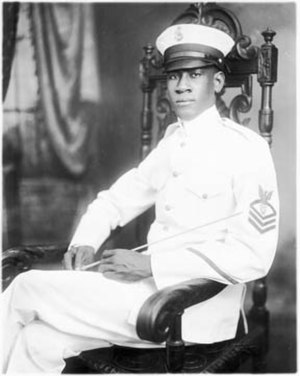 Alton Adams - Alton Adams (1922) in his naval uniform.