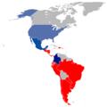 AméricaMóvil BrandNames Map-America.png
