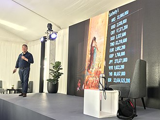 Ambeth Ocampo - Ocampo giving a lecture on Philippine collectors and stewardship at the Art Fair Philippines in 2018.