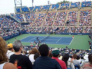 Louis Armstrong Stadium (1978) - Inside Armstrong Stadium during the 2006 US Open.