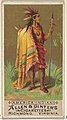 America (Indian), from the Natives in Costume series (N16) for Allen & Ginter Cigarettes Brands MET DP834812.jpg