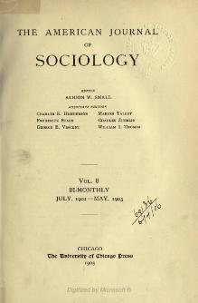 American Journal of Sociology Volume 8.djvu