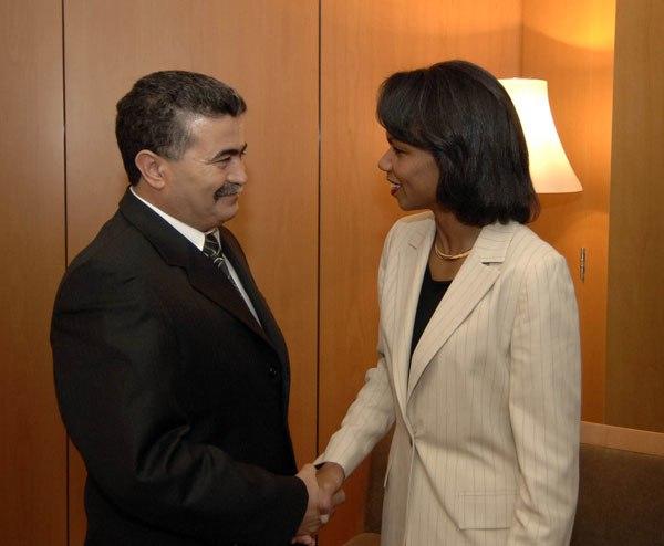 Amir Peretz et Condoleezza Rice
