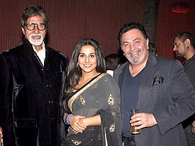 Amitabh Bachchan, Vidya Balan, Rishi Kapoor at Success bash of 'The Dirty Picture' (19).jpg